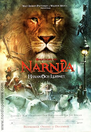 The Chronicles of Narnia 2005 Movie poster Tilda Swinton Andrew Adamson