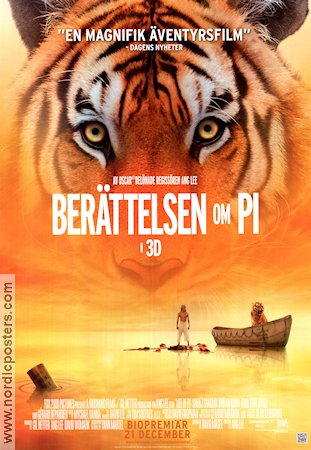 Life of Pi 2012 poster Suraj Sharma Ang Lee