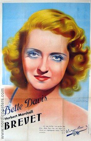 The Letter poster 1940 Bette Davis director William Wyler original