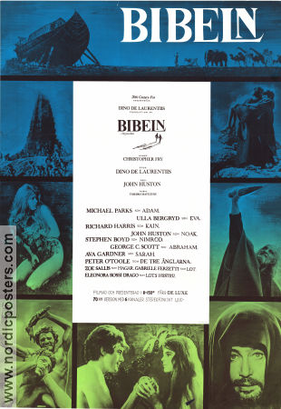 The Bible 1966 Movie poster Richard Harris John Huston