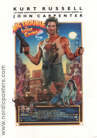 Big Trouble in Little China 1986 John Carpenter Kurt Russell Kim Cattrall Drew Struzan