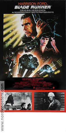 Blade Runner Directors Cut 1992 Movie poster Harrison Ford Ridley Scott