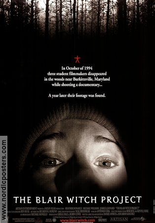 The Blair Witch Project 1999 poster Heather Donahue Daniel Myrick