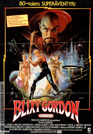 Flash Gordon 1981 Timothy Dalton Max von Sydow Queen Renato Casaro
