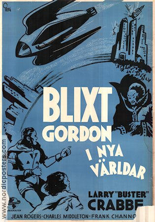 Flash Gordon's Trip to Mars 1938 Movie poster Buster Crabbe