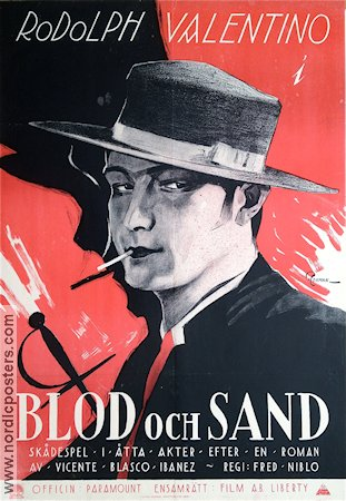 Blood and Sand 1922 poster Rudolph Valentino