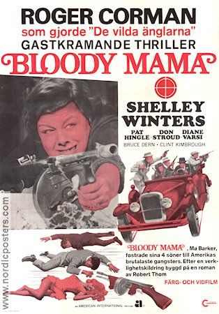 Bloody Mama 1970 Roger Corman Shelley Winters