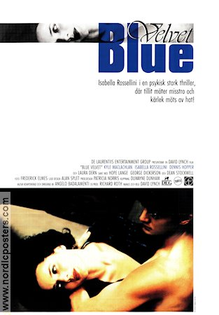 Blue Velvet 1986 Movie poster Isabella Rossellini David Lynch