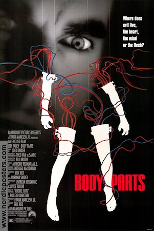 Body Parts 1991 Movie poster Jeff Fahey