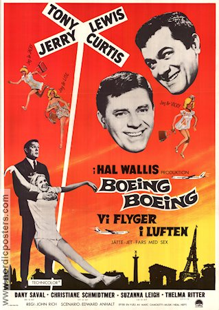 Boeing Boeing 1966 Movie poster Tony Curtis