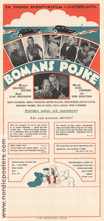 Bomans pojke 1933 Movie poster Thor Mod�en