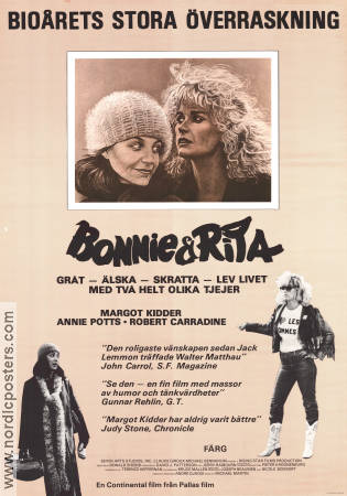 Bonnie och Rita 1983 poster Margot Kidder Donald Shebib