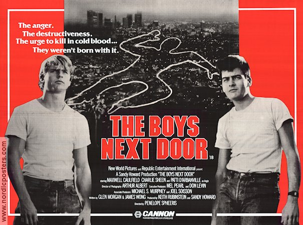 The Boys Next Door 1985 Movie poster Charlie Sheen