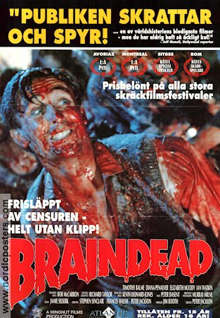 Braindead 1992 Movie poster Peter Jackson