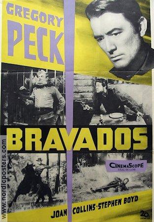 the bravados movie poster 1958 original nordicposters