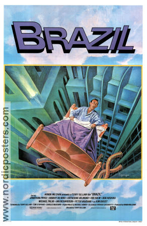 Brazil 1985 Movie poster Jonathan Pryce Terry Gilliam