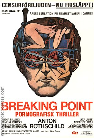 Breaking Point 1975 Movie poster Hans Arnold Bo Arne Vibenius