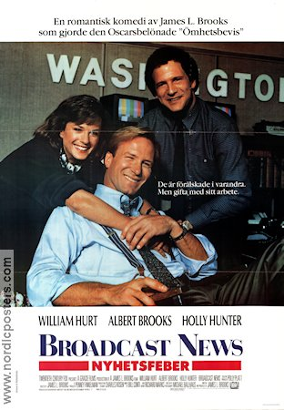 Broadcast News 1987 Movie poster William Hurt