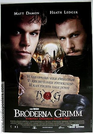 The Brothers Grimm 2005 poster Matt Damon Terry Gilliam