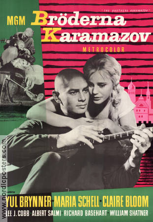 The Brothers Karamazov 1958 poster Yul Brynner Richard Brooks