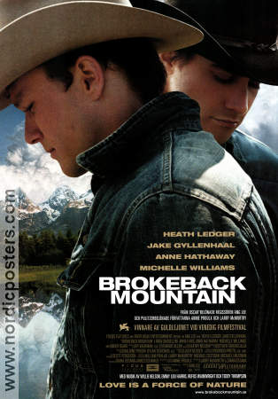 Brokeback Mountain 2005 poster Heath Ledger Ang Lee