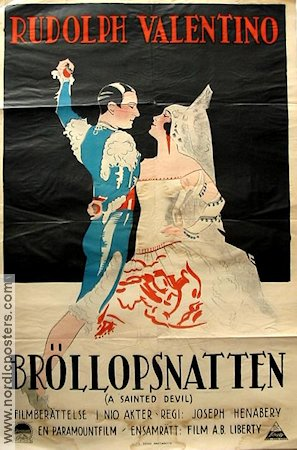 A Sainted Devil 1925 Movie poster Rudolph Valentino