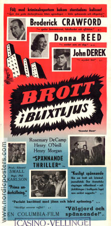 Scandal Sheet 1952 poster Broderick Crawford