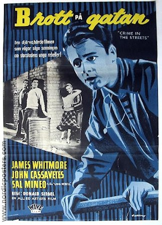 Crime in the Streets 1956 Movie poster John Cassavetes