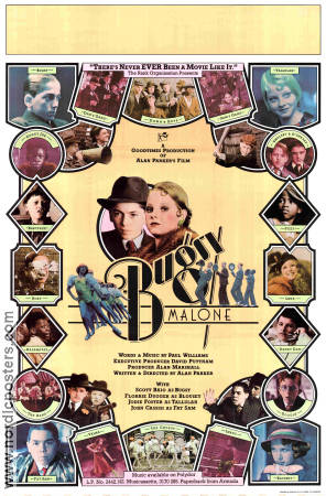 Bugsy Malone 1976 poster Jodie Foster