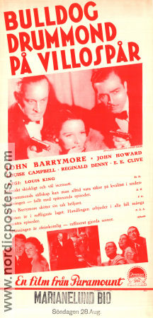 Bulldog Drummond´s Revenge 1937 poster John Barrymore Louis King