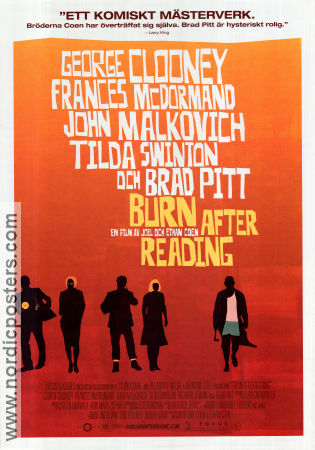 Burn After Reading 2008 Movie poster George Clooney Joel Ethan Coen