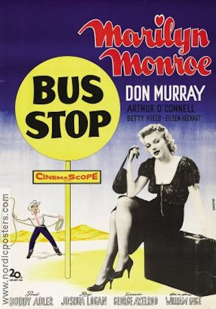 Bus Stop 1956 Movie poster Marilyn Monroe