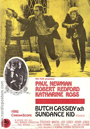 Butch Cassidy and the Sundance Kid 1969 George Roy Hill Paul Newman Robert Redford Katharine Ross