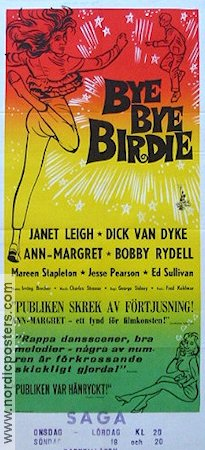 Bye Bye Birdie 1963 Movie poster Janet Leigh