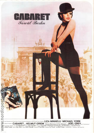 Cabaret 1972 Movie poster Liza Minnelli Bob Fosse