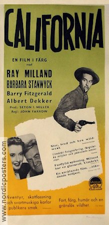 California 1947 poster Ray Milland