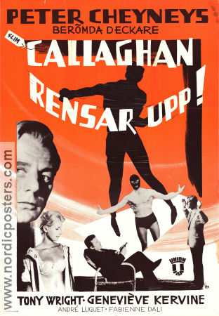 Callaghan rensar upp 1961 Movie poster Tony Wright