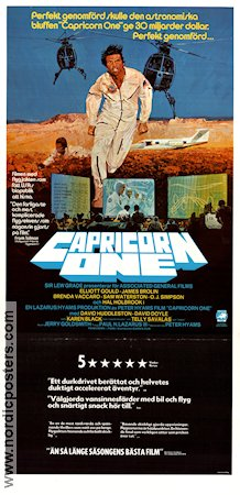 Capricorn One 1977 poster Elliott Gould Peter Hyams