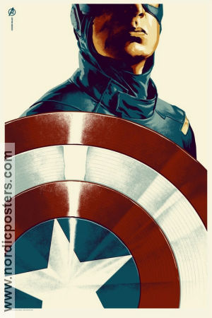 Limited litho CAPTAIN AMERICA Mondo Phantom City No 304 of 340 2012 poster