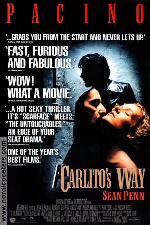 Carlito's Way 1993 Movie poster Al Pacino Brian De Palma