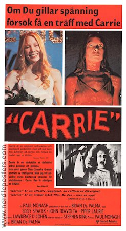 CARRIE Movie poster 1977 original NordicPosters