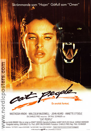 Cat People 1982 Movie poster Nastassja Kinski