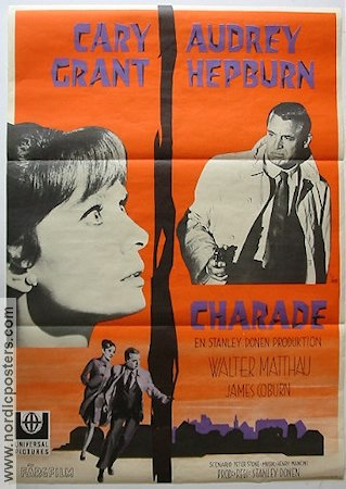 Charade 1963 Movie poster Audrey Hepburn