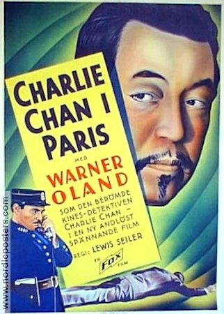 Charlie Chan in Paris 1935 Movie poster Warner Oland