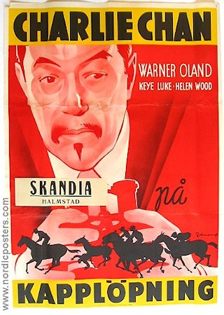 Charlie Chan at the Race Track 1937 Movie poster Warner Oland