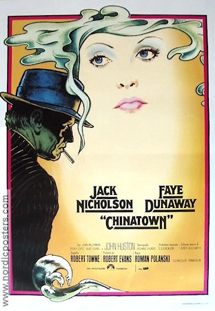 Chinatown 1974 Movie poster Jack Nicholson Roman Polanski