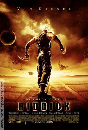 The Chronicles of Riddick 2004 Movie poster Vin Diesel