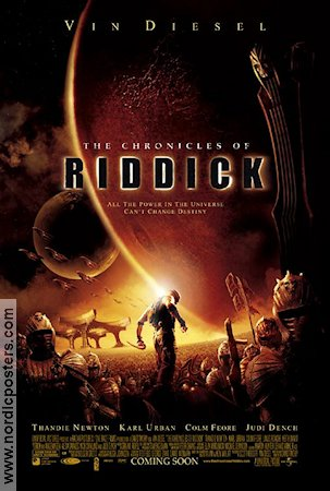 The Chronicles of Riddick 2004 poster Vin Diesel David Twohy