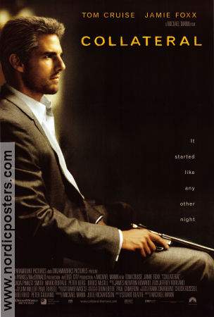 Collateral 2004 Movie poster Tom Cruise Michael Mann
