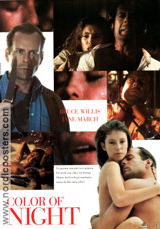 Color of Night 1993 poster Bruce Willis